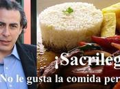 Ivan Thays, comida peruana chovinismo
