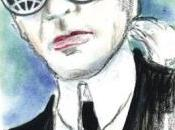Karl Lagerfeld dibuja autoretrato para portada revista Metro