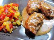 Carrilladas cerdo salsa tomillo miel guarnicion verduras