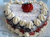 Tarta corazón fresa