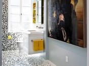 Mosaico pixelado baño