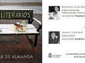 Encuentros literarios Universidad Popular Almansa