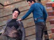 Imágenes rodaje 'Star Trek Benedict Cumberbatch recibiendo golpes