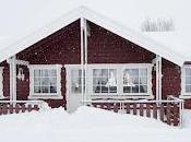 Cabanas rusticas nieve escandinava