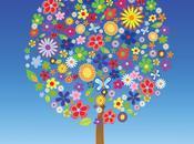 Árbol Flores Vectorial