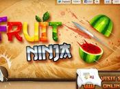 Fruit Ninja, cortando fruta.