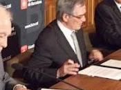 Firmado convenio cesión fondo documental Tierno Galván Gran Logia Simbólica Biblioteca Arús Barcelona